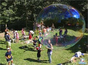 children's party entertainers in Madrid bubbles