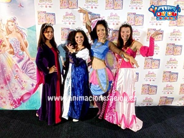 Princesas en la fiesta infantil