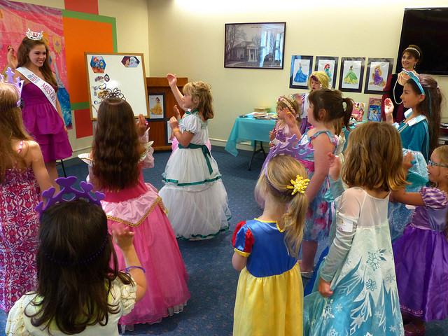 Princesas en las fiestas infantiles para niños
