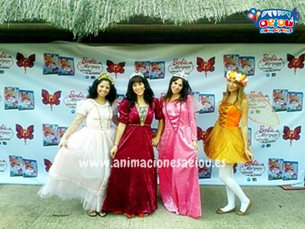 Princesas en las fiestas infantiles