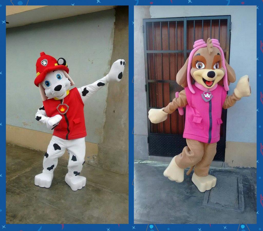 Alquiler de personajes muñecos de la Patrulla-Canina