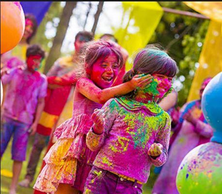 Fiestas infantiles con polvos de colores
